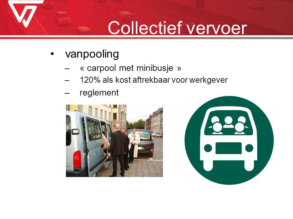 Collectief vervoer vanpooling « carpool met minibusje » reglement