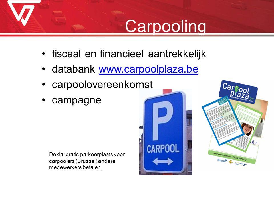 Carpooling fiscaal en financieel aantrekkelijk