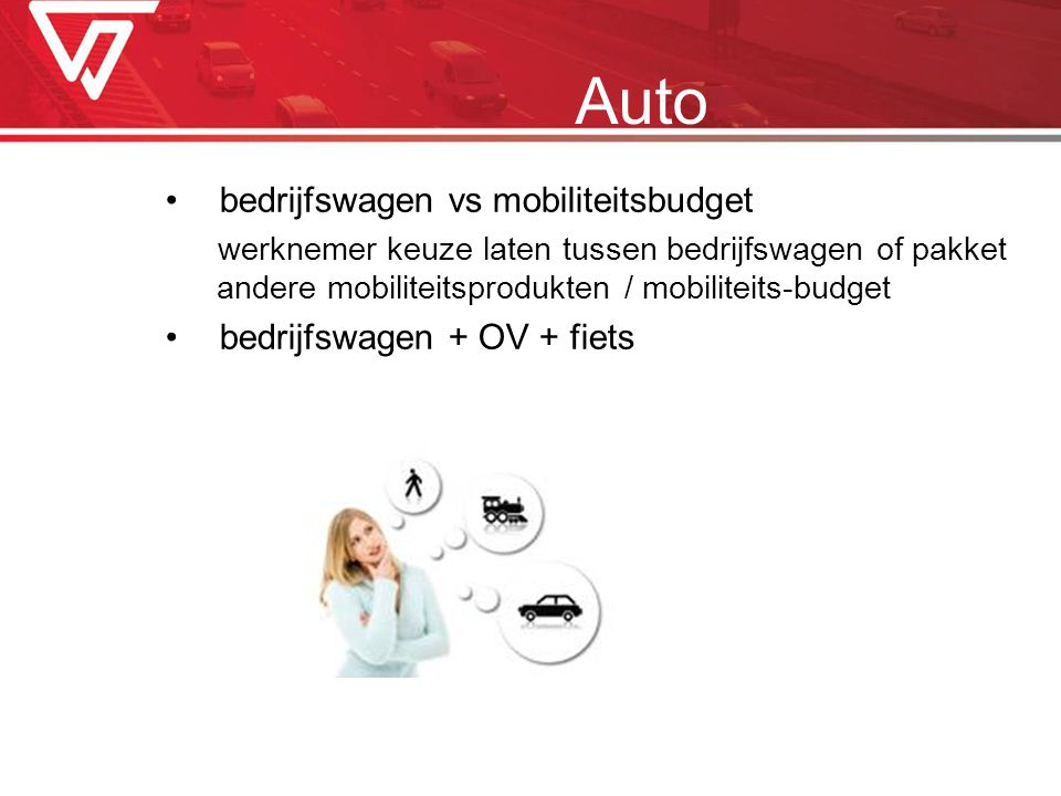 Auto bedrijfswagen vs mobiliteitsbudget bedrijfswagen + OV + fiets