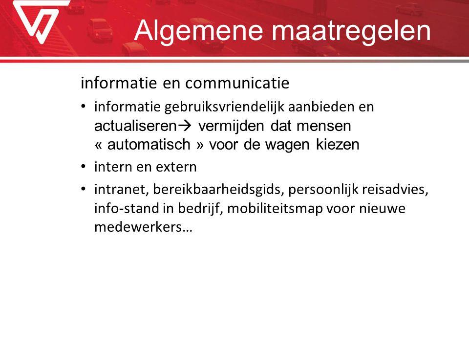 Algemene maatregelen informatie en communicatie