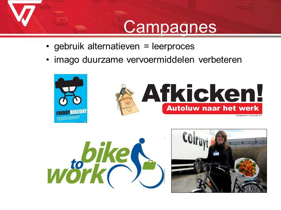 Campagnes gebruik alternatieven = leerproces