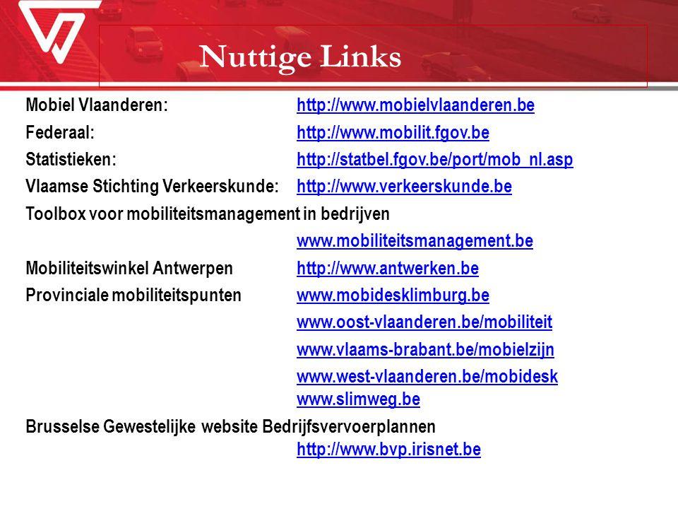 Nuttige Links Mobiel Vlaanderen: http://www.mobielvlaanderen.be