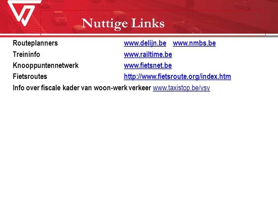 Nuttige Links Routeplanners