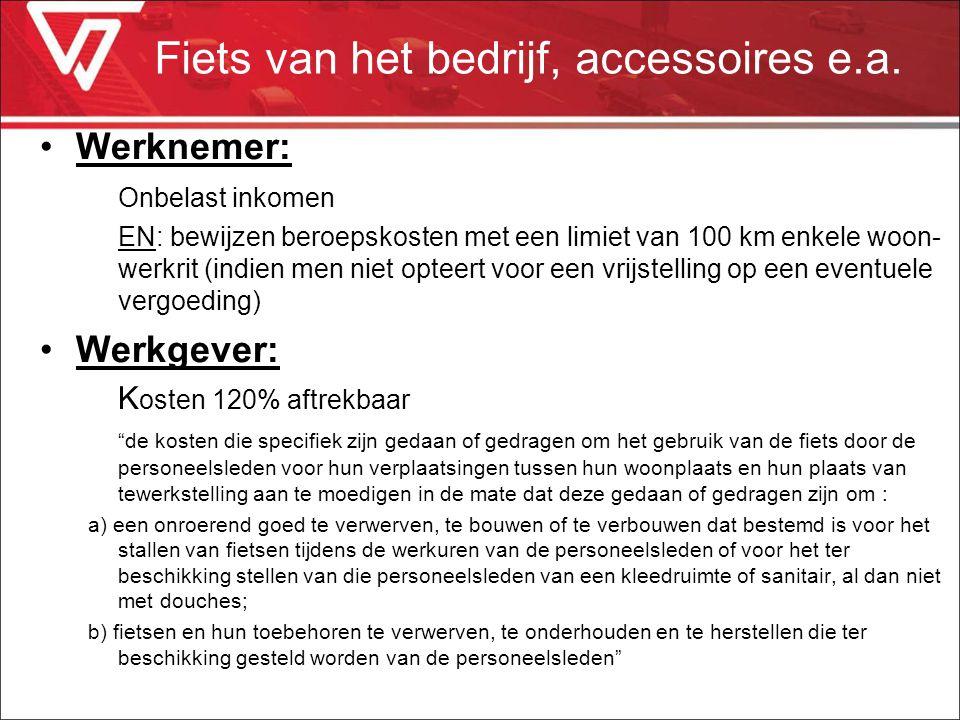 Fiets van het bedrijf, accessoires e.a.