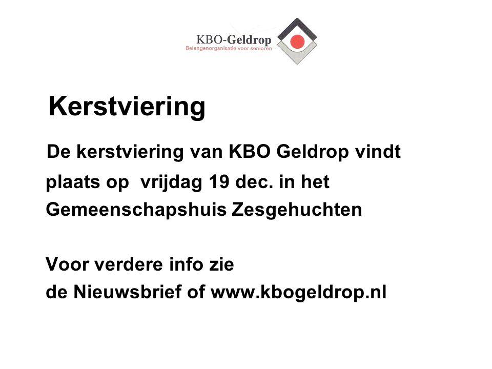 De kerstviering van KBO Geldrop vindt
