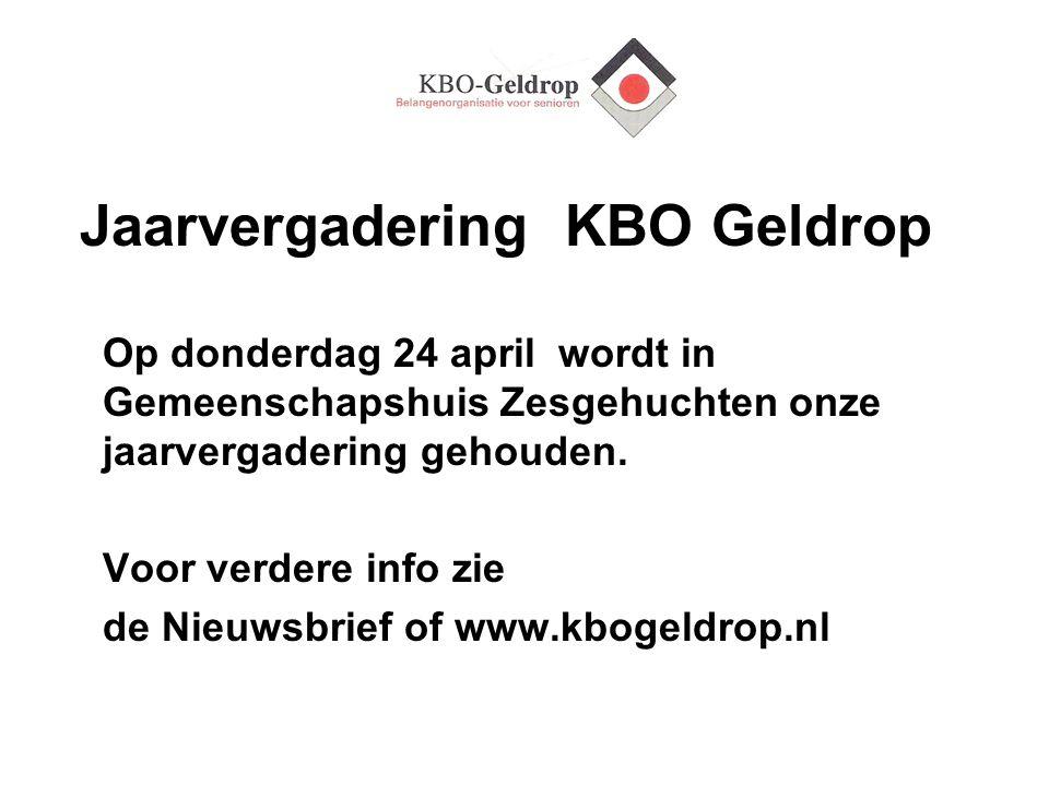 Jaarvergadering KBO Geldrop