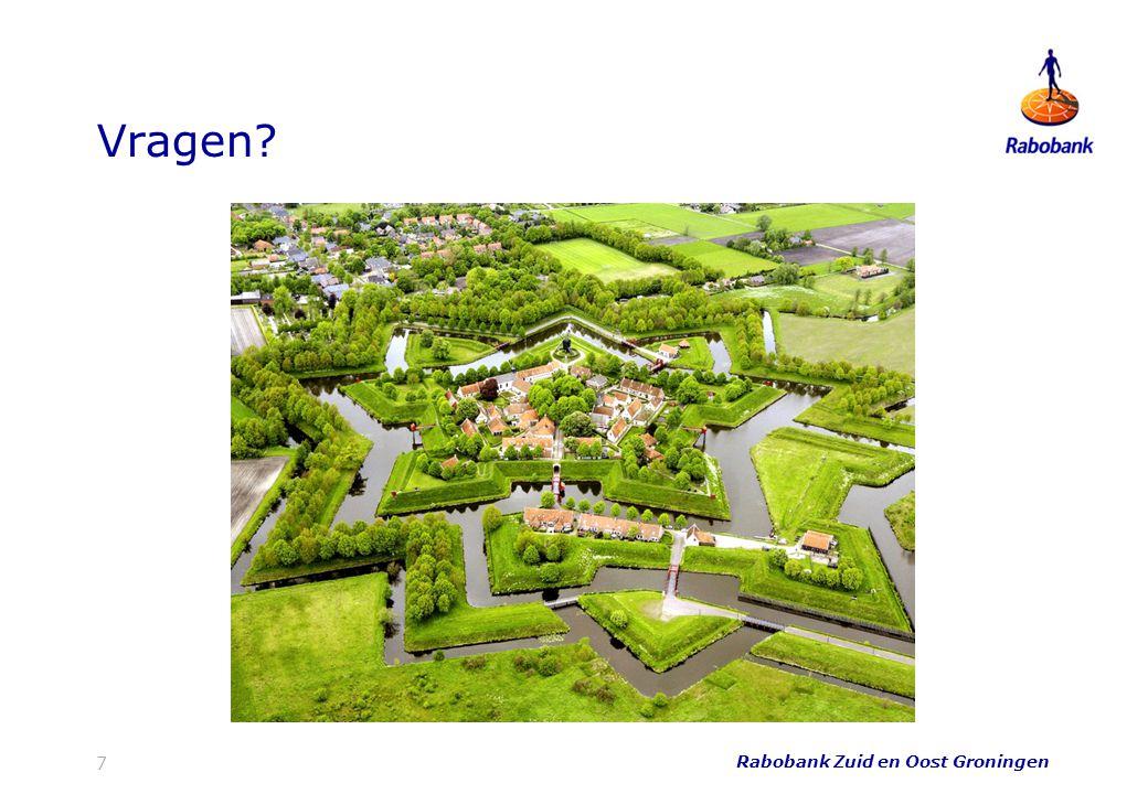 Vragen Rabobank Zuid en Oost Groningen