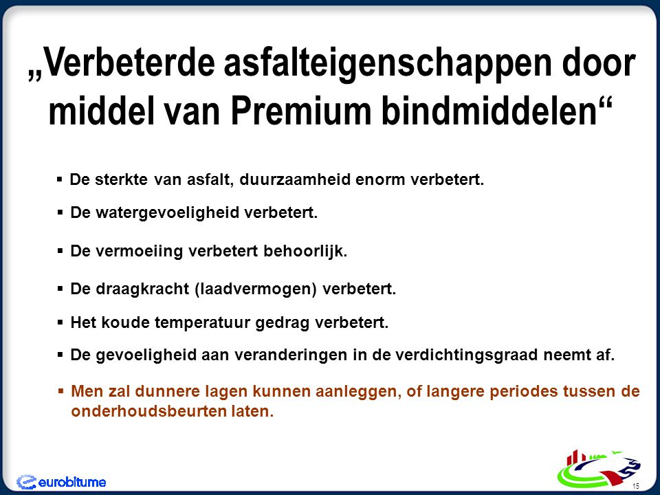 """""""Verbeterde asfalteigenschappen door middel van Premium bindmiddelen"""
