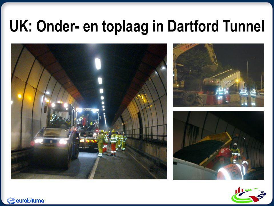 UK: Onder- en toplaag in Dartford Tunnel