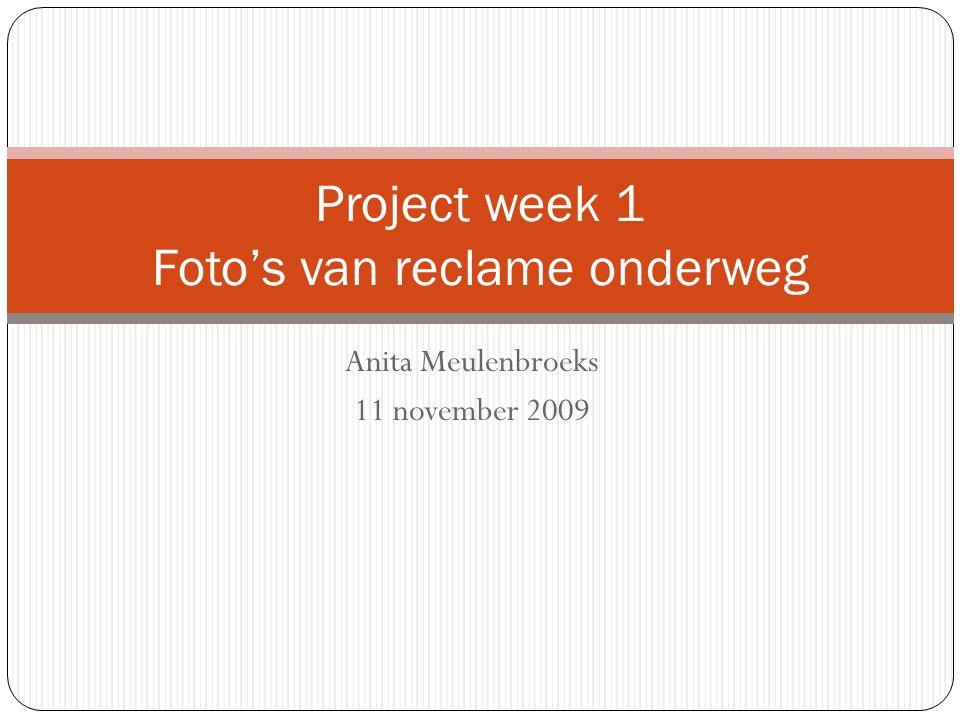 Project week 1 Foto's van reclame onderweg