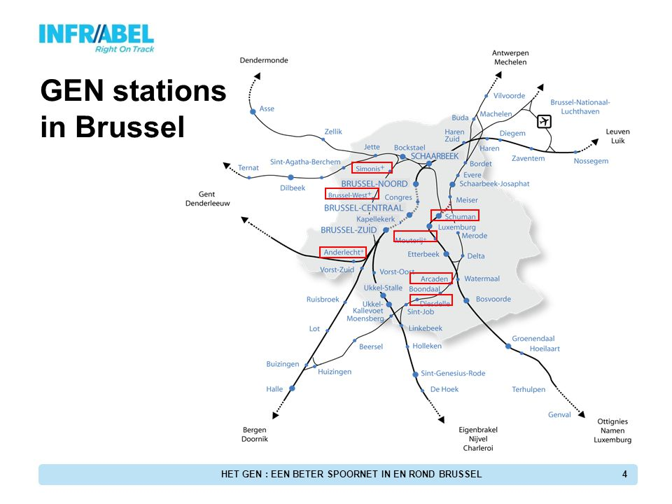 GEN stations in Brussel