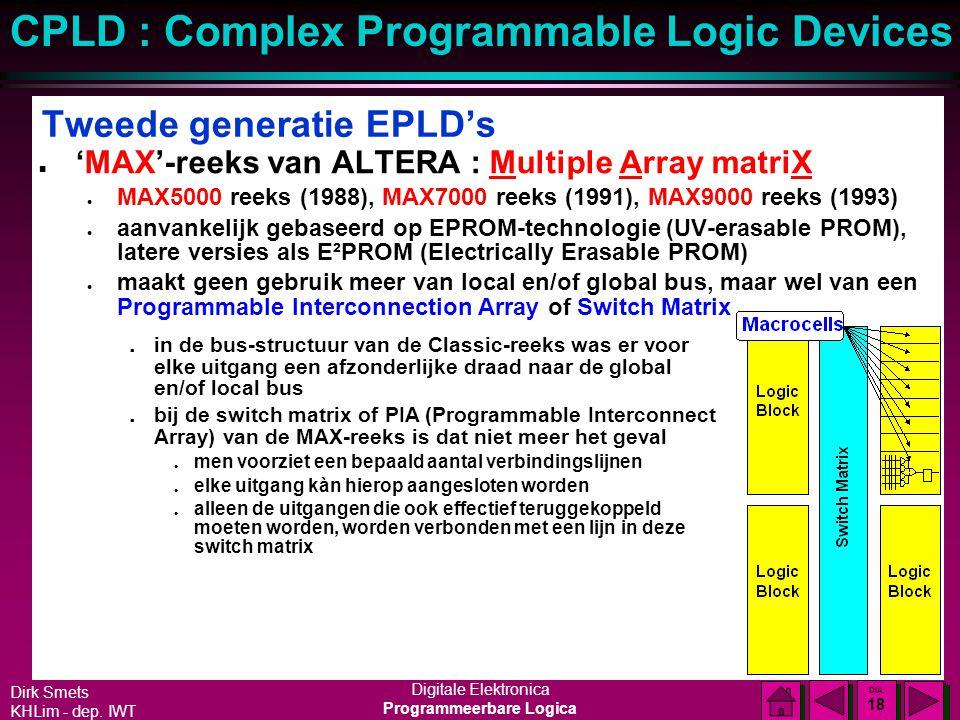 Tweede generatie EPLD's