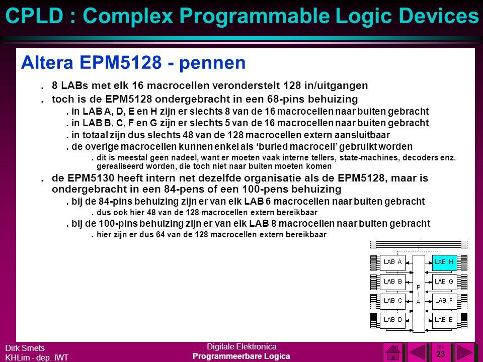 Altera EPM5128 - pennen 8 LABs met elk 16 macrocellen veronderstelt 128 in/uitgangen. toch is de EPM5128 ondergebracht in een 68-pins behuizing.