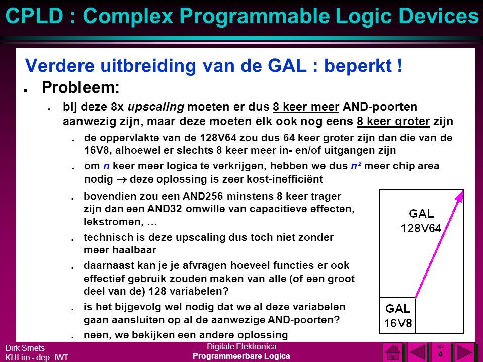 Verdere uitbreiding van de GAL : beperkt !