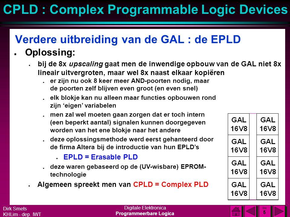 Verdere uitbreiding van de GAL : de EPLD