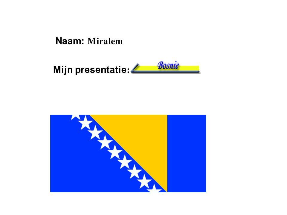 Naam: Miralem Mijn presentatie: Klik op Naam . Vul je naam in .