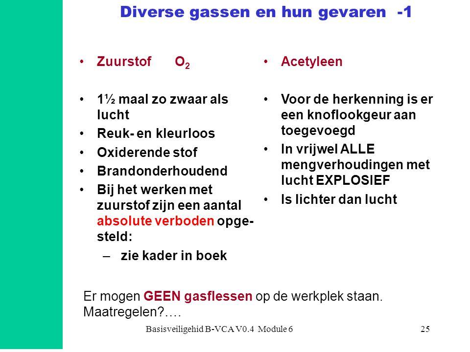 Diverse gassen en hun gevaren -1