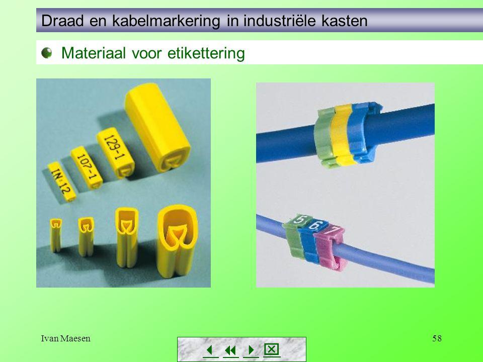 Draad en kabelmarkering in industriële kasten