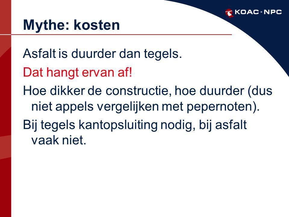 Mythe: kosten Asfalt is duurder dan tegels. Dat hangt ervan af!