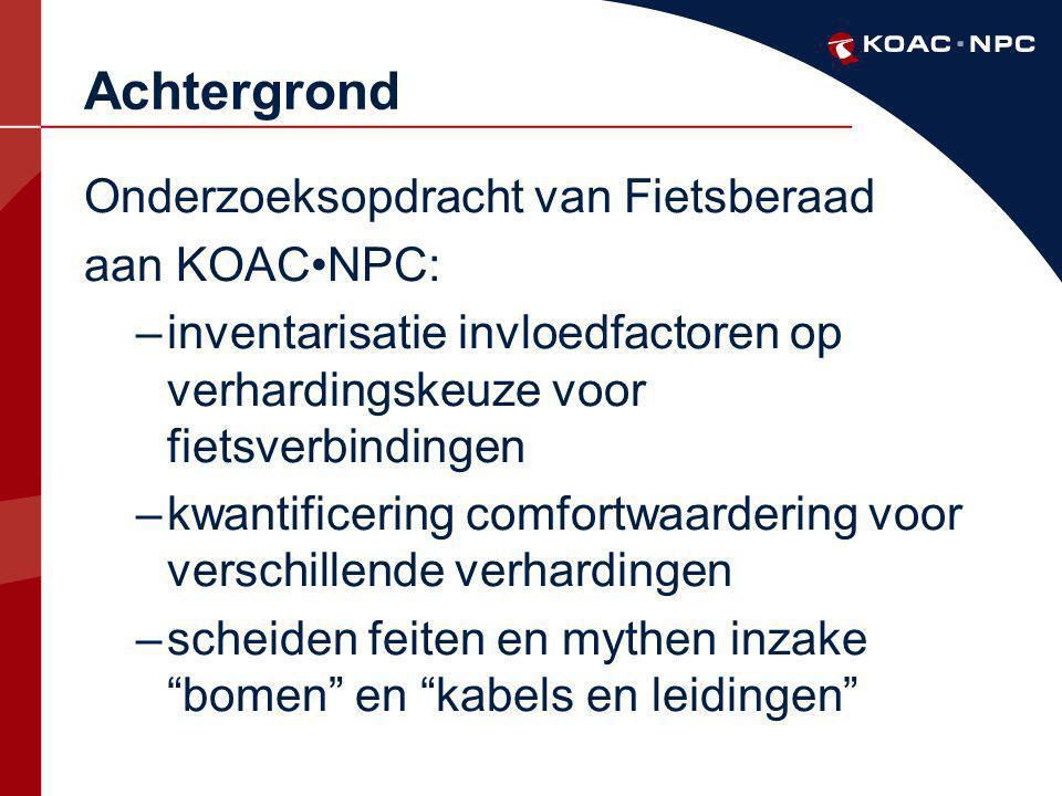 Achtergrond Onderzoeksopdracht van Fietsberaad aan KOAC•NPC: