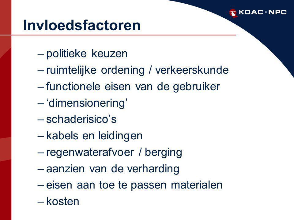 Invloedsfactoren politieke keuzen ruimtelijke ordening / verkeerskunde