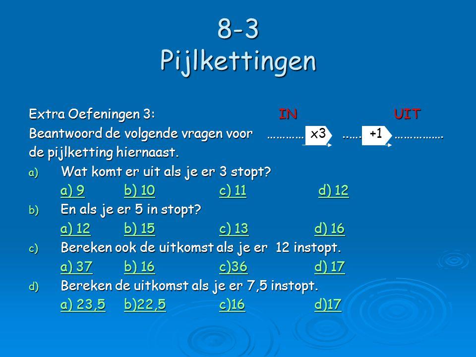 8-3 Pijlkettingen Extra Oefeningen 3: IN UIT