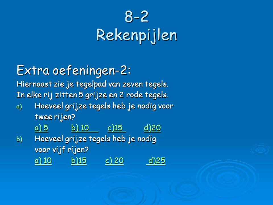 8-2 Rekenpijlen Extra oefeningen-2: