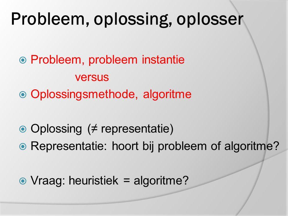 Probleem, oplossing, oplosser