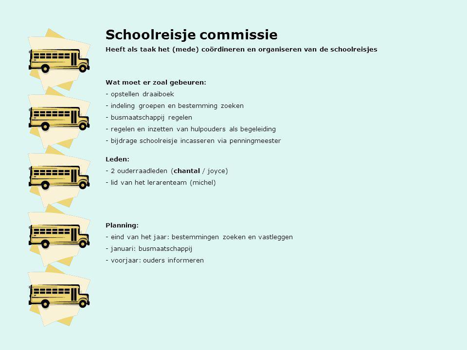 Schoolreisje commissie