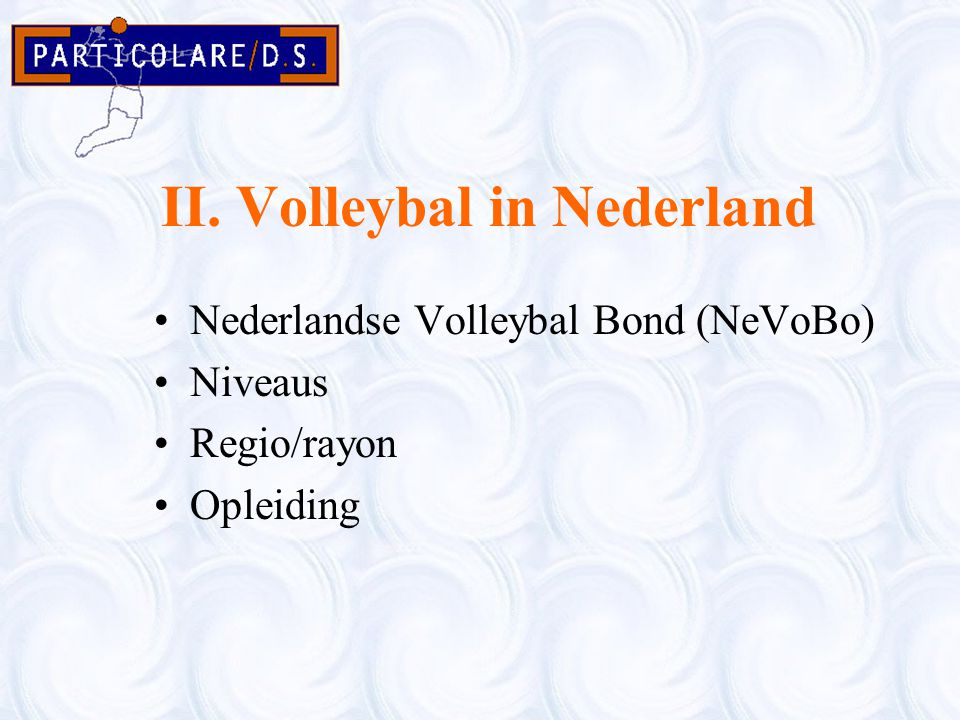 II. Volleybal in Nederland