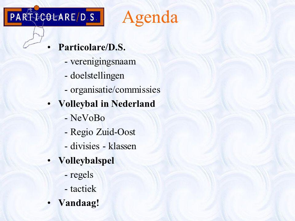 Agenda Particolare/D.S. - verenigingsnaam - doelstellingen