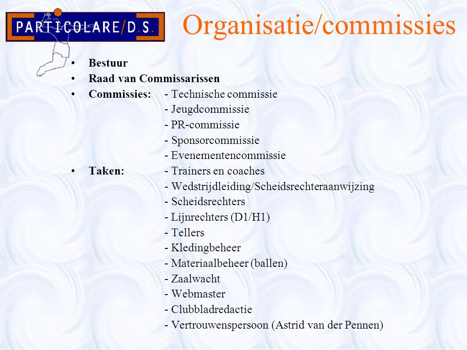 Organisatie/commissies
