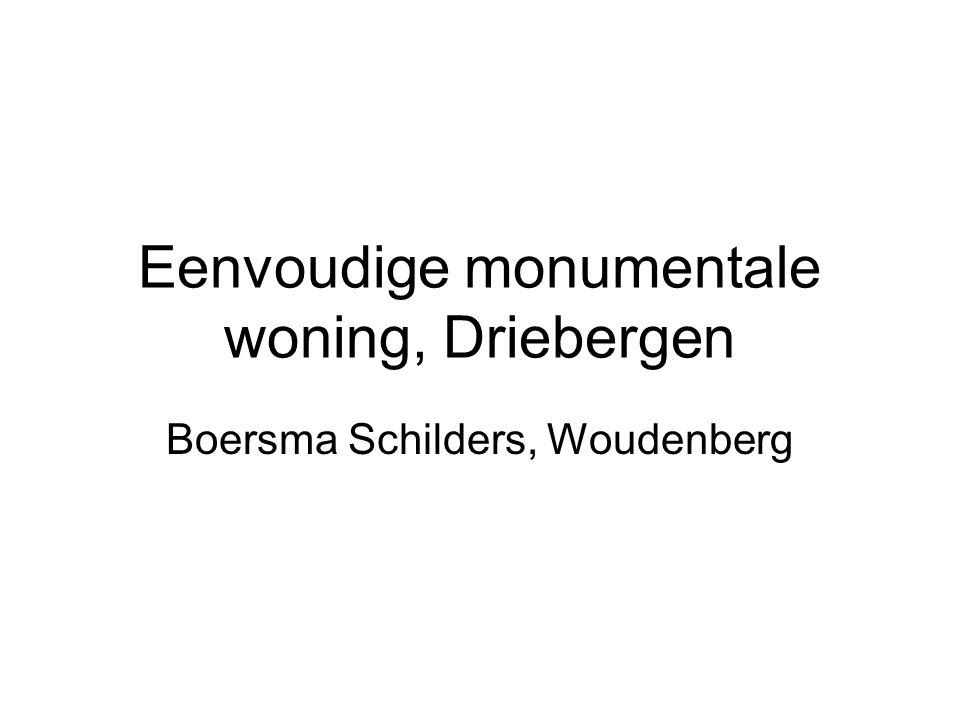 Eenvoudige monumentale woning, Driebergen