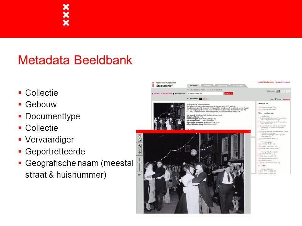 Metadata Beeldbank Collectie Gebouw Documenttype Vervaardiger