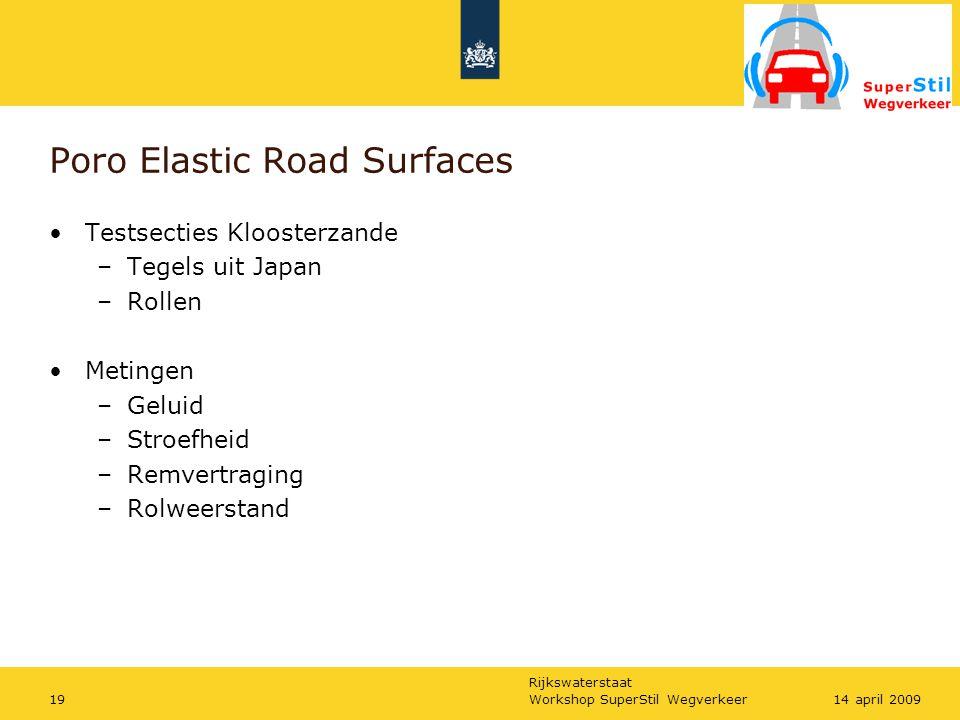 Poro Elastic Road Surfaces