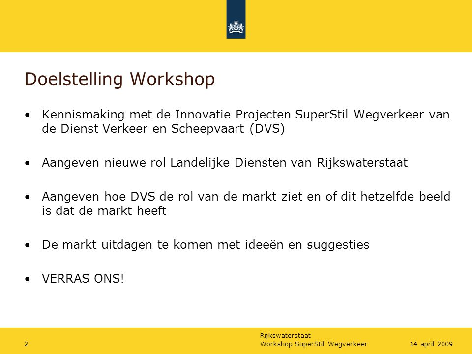 Doelstelling Workshop