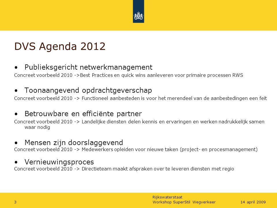 DVS Agenda 2012 Publieksgericht netwerkmanagement