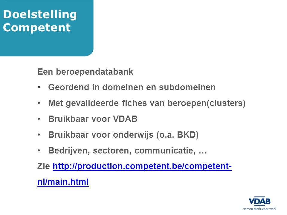 Doelstelling Competent