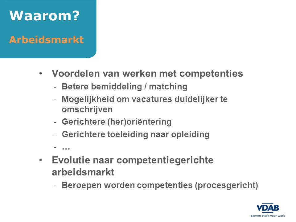 Waarom Arbeidsmarkt Voordelen van werken met competenties
