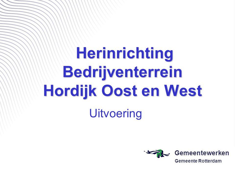 Herinrichting Bedrijventerrein Hordijk Oost en West