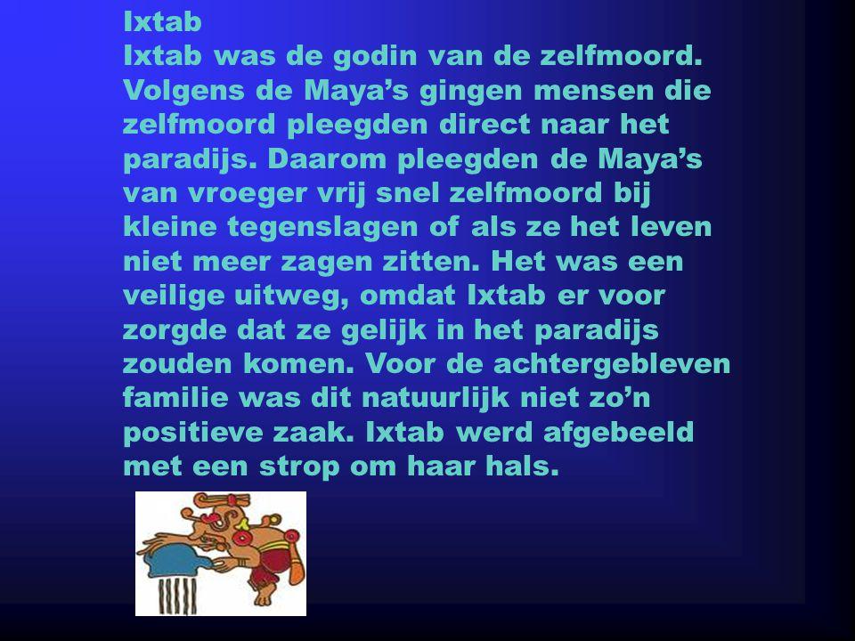 Ixtab Ixtab was de godin van de zelfmoord