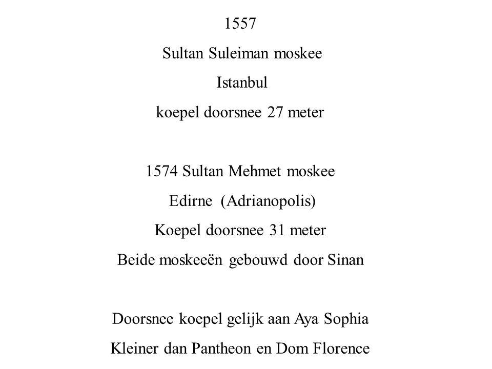 Sultan Suleiman moskee Istanbul koepel doorsnee 27 meter