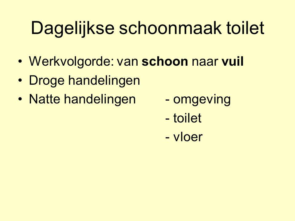 Dagelijkse schoonmaak toilet