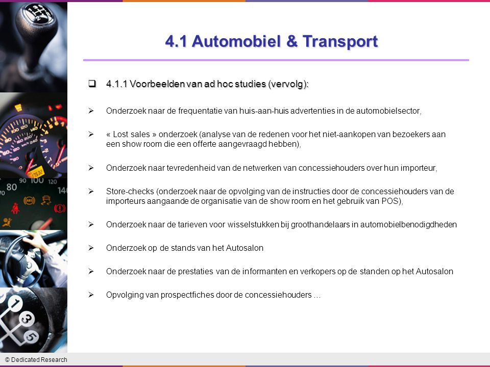 4.1 Automobiel & Transport