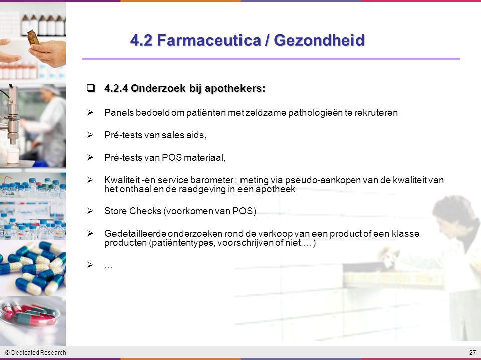 4.2 Farmaceutica / Gezondheid