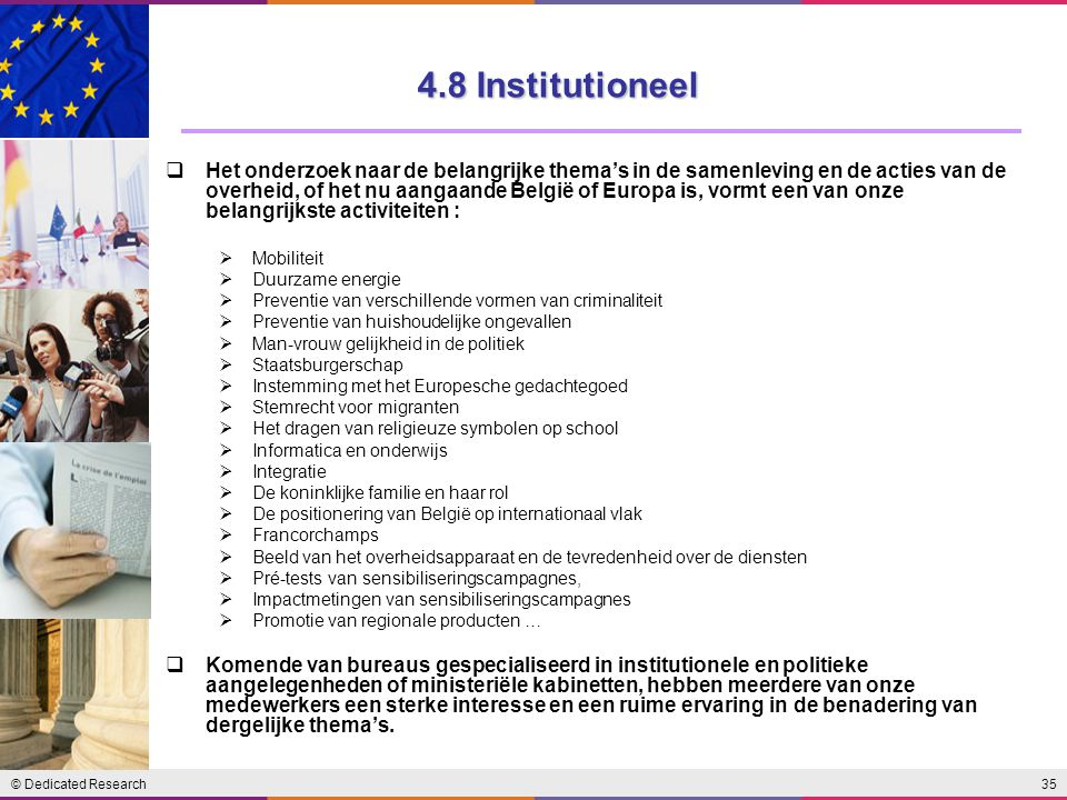 4.8 Institutioneel