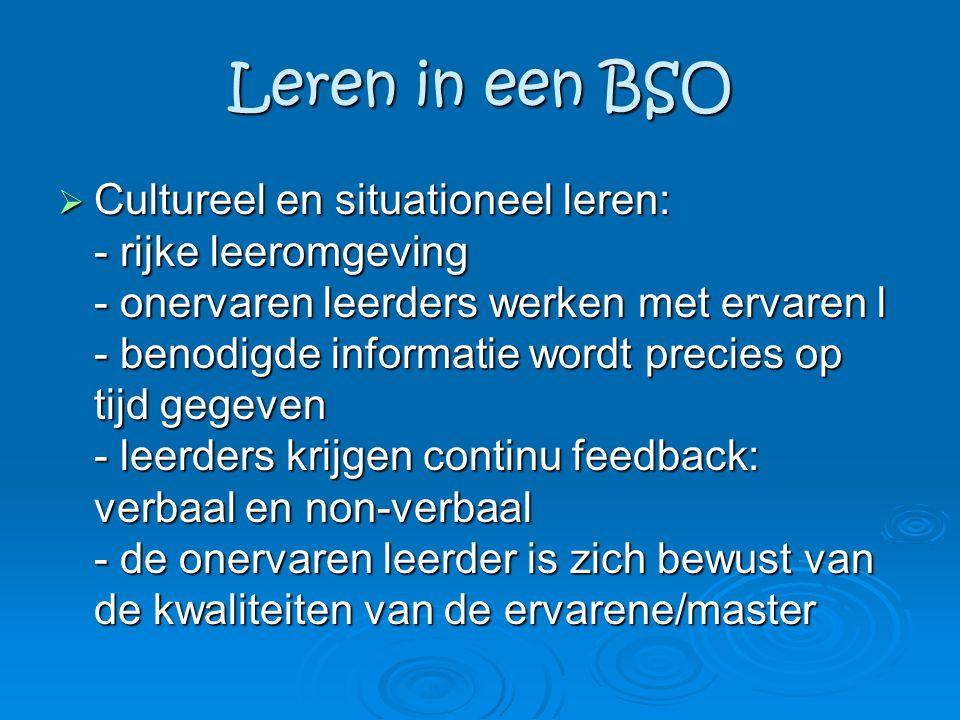 Leren in een BSO