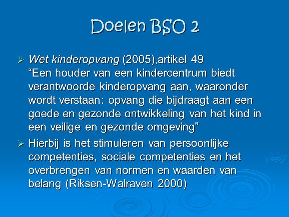 Doelen BSO 2