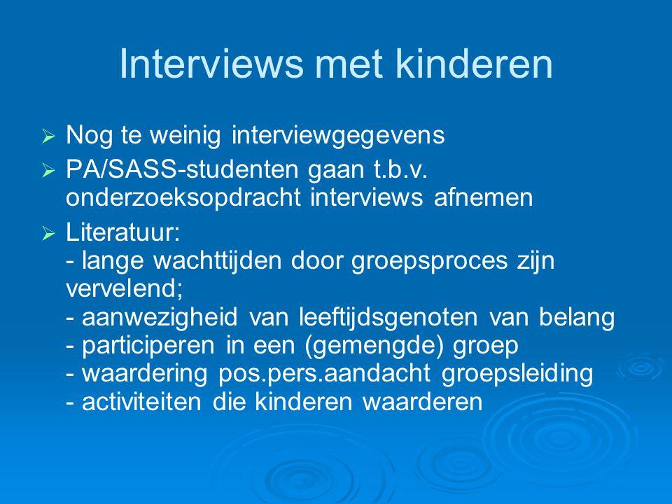 Interviews met kinderen