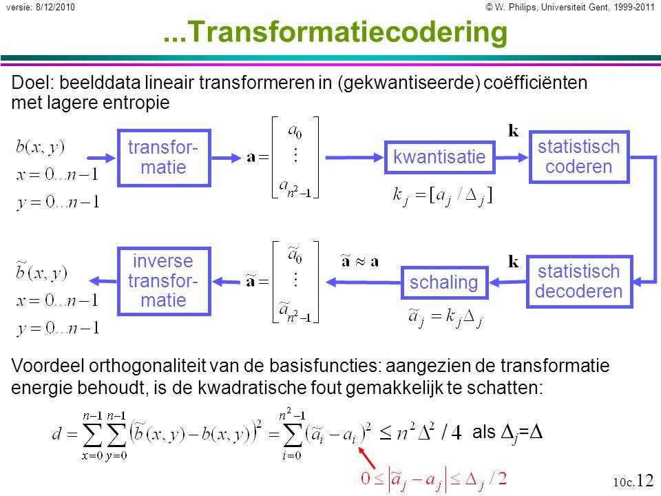 ...Transformatiecodering